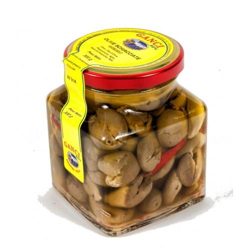 Olive schiacciate in olio d'oliva gr. 300