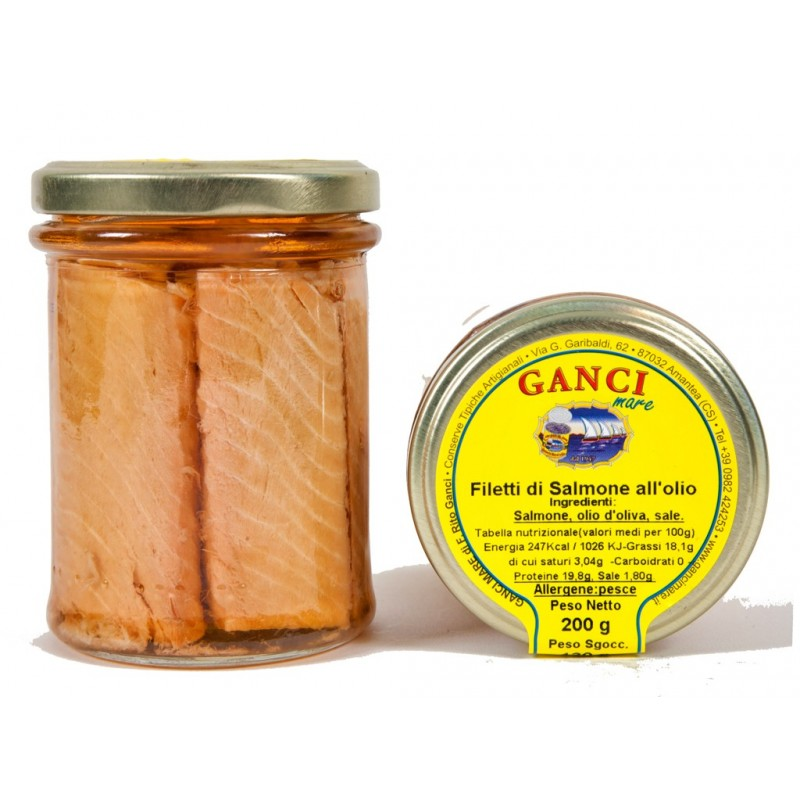 Filetti di Salmone all'olio gr. 200