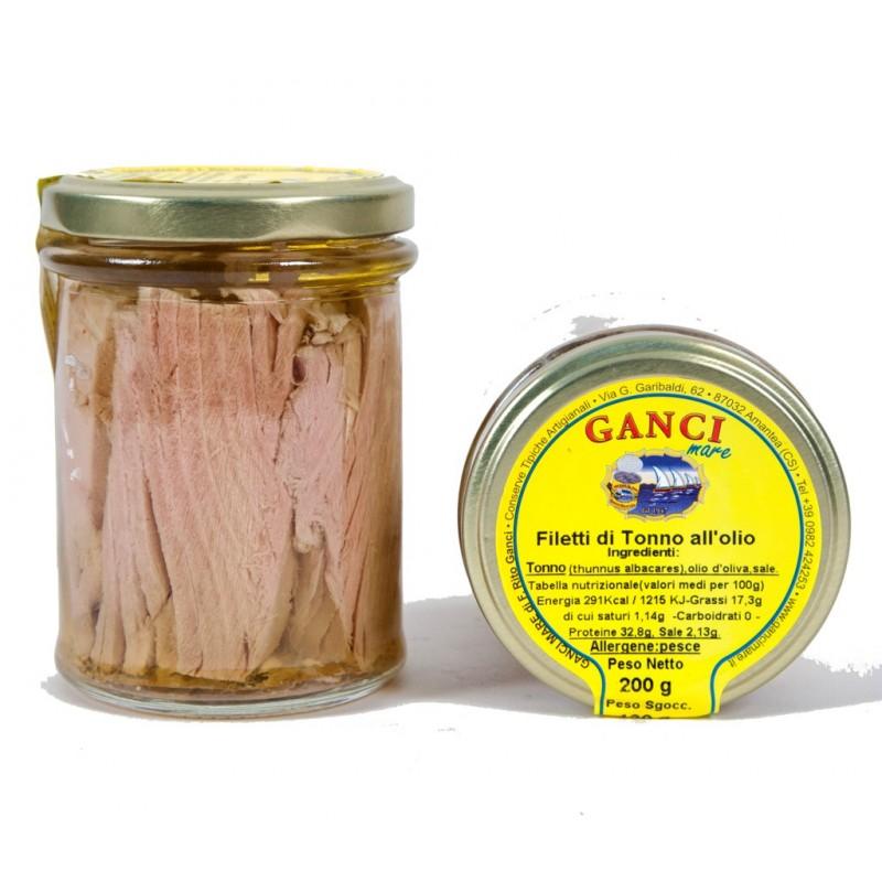 Filetti di Tonno all'olio gr. 200