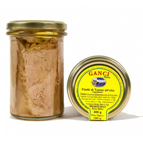 Filetti di tonno all'olio gr. 300