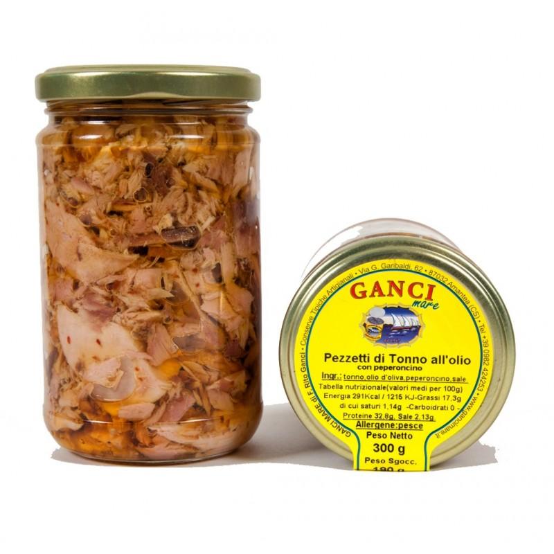 Pezzetti di Tonno con peperoncino gr. 300