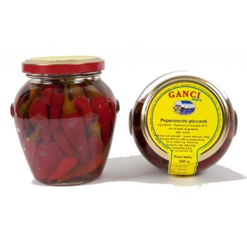 Peperoncini piccanti in olio gr. 290