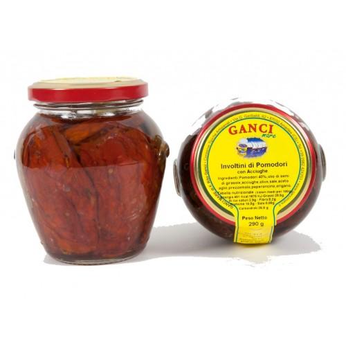 Involtini di Pomodori Secchi con Acciughe Gr.290