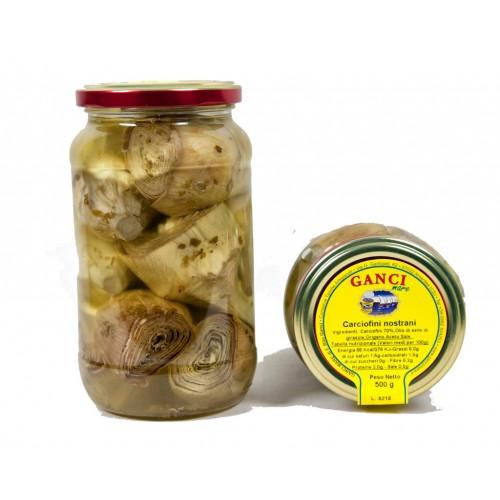 Carciofini Nostrani in olio gr.500