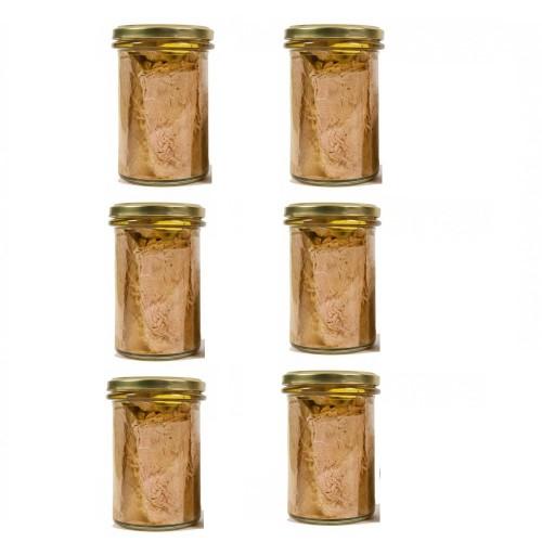 6 Vasi Filetti di tonno all'olio gr. 300
