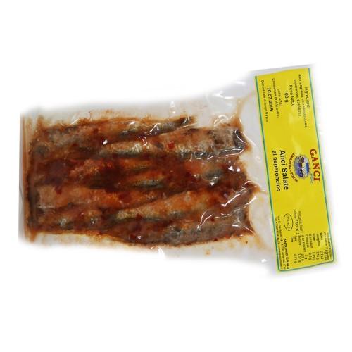 Alici Salate al Peperoncino Gr.100
