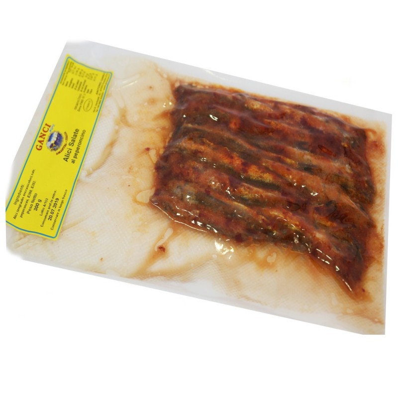 Alici Salate al Peperoncino gr.300