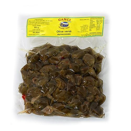 Olive Verdi denociollate a mano gr.500