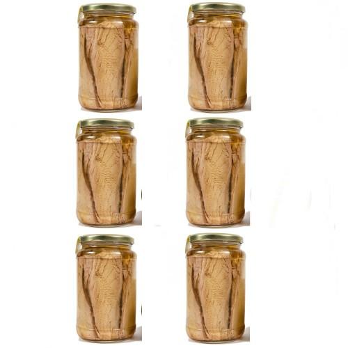 6 Vasi Filetti di Tonno all'olio gr. 550