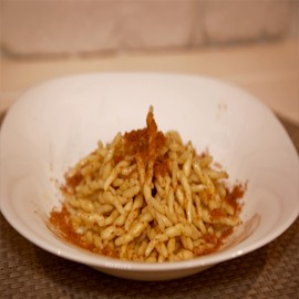 Trofie and Bottarga